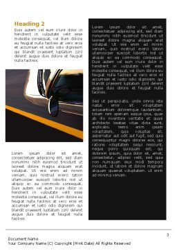 Car On Highway Word Template, Second Inner Page, 02358, Cars/Transportation — PoweredTemplate.com