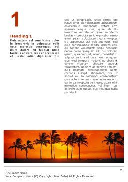 Seaside Word Template, First Inner Page, 02360, Nature & Environment — PoweredTemplate.com