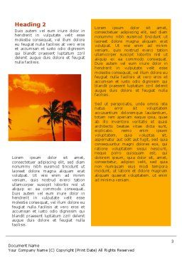 Seaside Word Template, Second Inner Page, 02360, Nature & Environment — PoweredTemplate.com