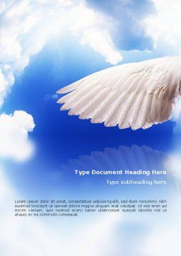 Holy Spirit Word Template, Cover Page, 02361, Religious/Spiritual — PoweredTemplate.com