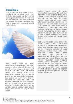 Holy Spirit Word Template, Second Inner Page, 02361, Religious/Spiritual — PoweredTemplate.com