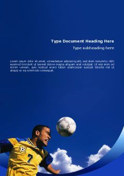 Head In Soccer Word Template, Cover Page, 02365, Sports — PoweredTemplate.com