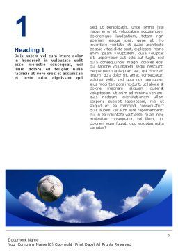 Head In Soccer Word Template, First Inner Page, 02365, Sports — PoweredTemplate.com