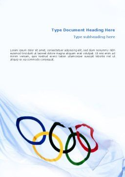 Olympic Games Word Template, Cover Page, 02369, Sports — PoweredTemplate.com
