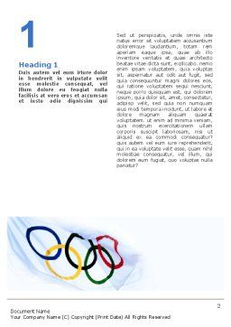Olympic Games Word Template, First Inner Page, 02369, Sports — PoweredTemplate.com