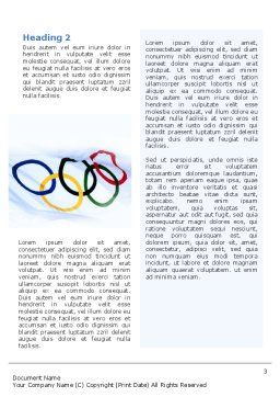 Olympic Games Word Template, Second Inner Page, 02369, Sports — PoweredTemplate.com