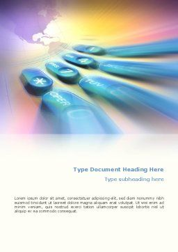 International Communication Word Template, Cover Page, 02372, Telecommunication — PoweredTemplate.com