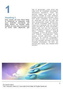 International Communication Word Template, First Inner Page, 02372, Telecommunication — PoweredTemplate.com