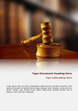 Juridical Word Template, Cover Page, 02373, Legal — PoweredTemplate.com