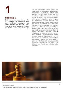 Juridical Word Template, First Inner Page, 02373, Legal — PoweredTemplate.com