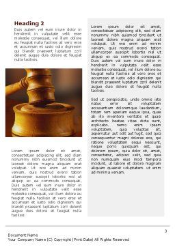 Juridical Word Template, Second Inner Page, 02373, Legal — PoweredTemplate.com