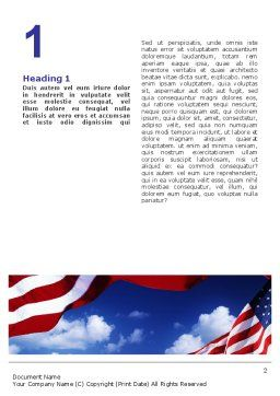 Children Of The USA Word Template, First Inner Page, 02377, People — PoweredTemplate.com