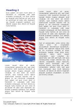 Children Of The USA Word Template Second Inner Page