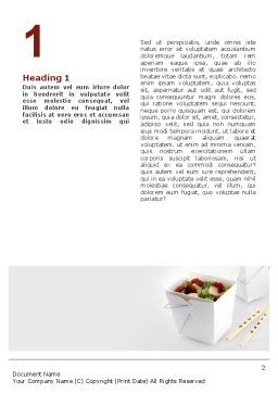 Chinese Food Word Template, First Inner Page, 02378, Food & Beverage — PoweredTemplate.com