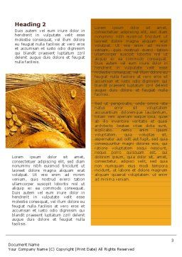 Baking Word Template, Second Inner Page, 02379, Agriculture and Animals — PoweredTemplate.com
