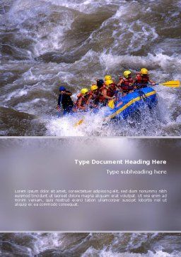Rafting Word Template, Cover Page, 02380, Sports — PoweredTemplate.com