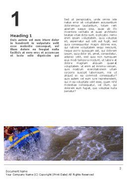 Rafting Word Template, First Inner Page, 02380, Sports — PoweredTemplate.com