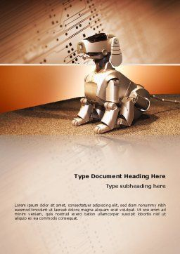 Robot Dog Word Template, Cover Page, 02381, Technology, Science & Computers — PoweredTemplate.com
