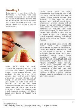 Denture Word Template, Second Inner Page, 02385, Medical — PoweredTemplate.com