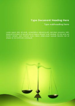 Balance Word Template, Cover Page, 02386, Legal — PoweredTemplate.com