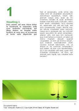 Balance Word Template, First Inner Page, 02386, Legal — PoweredTemplate.com