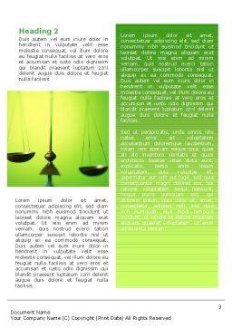 Balance Word Template, Second Inner Page, 02386, Legal — PoweredTemplate.com