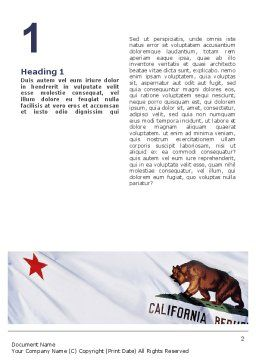 California State Flag Word Template, First Inner Page, 02387, Flags/International — PoweredTemplate.com