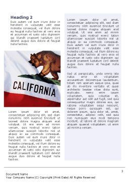 California State Flag Word Template Second Inner Page
