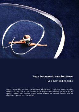 Rhythmic Gymnastics Word Template, Cover Page, 02388, Sports — PoweredTemplate.com