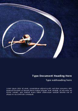 Rhythmic Gymnastics Word Template, Cover Page, 02388, Sports — PoweredTemplate.com