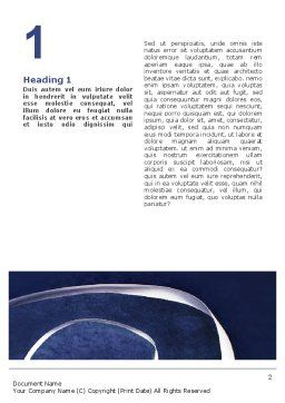 Rhythmic Gymnastics Word Template, First Inner Page, 02388, Sports — PoweredTemplate.com
