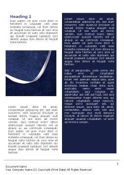 Rhythmic Gymnastics Word Template, Second Inner Page, 02388, Sports — PoweredTemplate.com