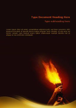 Olympic Flame Word Template, Cover Page, 02389, Religious/Spiritual — PoweredTemplate.com