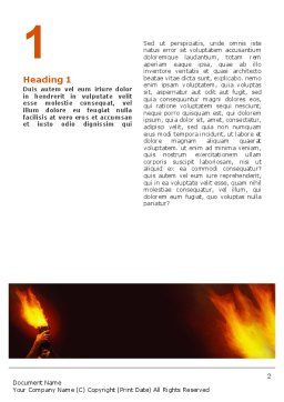 Olympic Flame Word Template, First Inner Page, 02389, Religious/Spiritual — PoweredTemplate.com