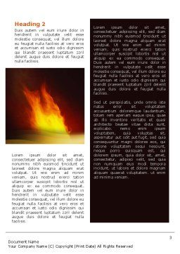 Olympic Flame Word Template, Second Inner Page, 02389, Religious/Spiritual — PoweredTemplate.com