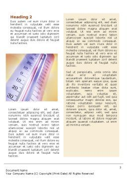 Thermometer Word Template, Second Inner Page, 02390, Utilities/Industrial — PoweredTemplate.com