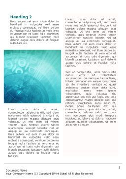 World Business Review Word Template Second Inner Page