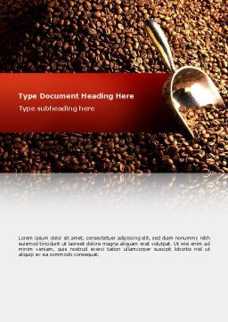 Scattering of Coffee Word Template, Cover Page, 02392, Careers/Industry — PoweredTemplate.com