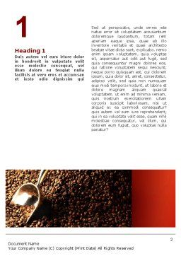 Scattering of Coffee Word Template, First Inner Page, 02392, Careers/Industry — PoweredTemplate.com