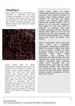 Scattering of Coffee Word Template, Second Inner Page, 02392, Careers/Industry — PoweredTemplate.com