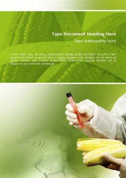 Agronomy and Genetics Word Template, Cover Page, 02394, Technology, Science & Computers — PoweredTemplate.com