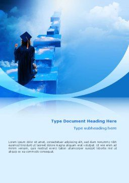 Graduate Word Template, Cover Page, 02397, Education & Training — PoweredTemplate.com