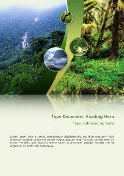 Rainforest Word Template Cover Page