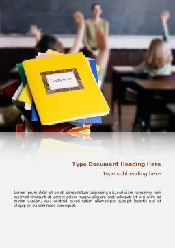 School Teaching Word Template, Cover Page, 02401, Education & Training — PoweredTemplate.com