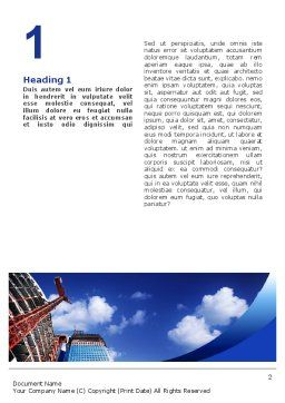 Building Company Word Template, First Inner Page, 02402, Construction — PoweredTemplate.com