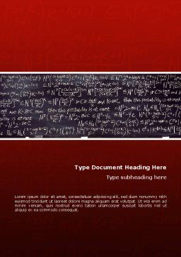 Algebraic Formulas Word Template, Cover Page, 02406, Education & Training — PoweredTemplate.com