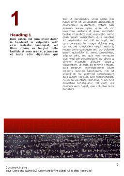 Algebraic Formulas Word Template, First Inner Page, 02406, Education & Training — PoweredTemplate.com