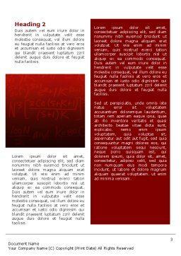 Algebraic Formulas Word Template, Second Inner Page, 02406, Education & Training — PoweredTemplate.com