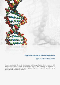 DNA On a Gray Word Template, Cover Page, 02407, Medical — PoweredTemplate.com