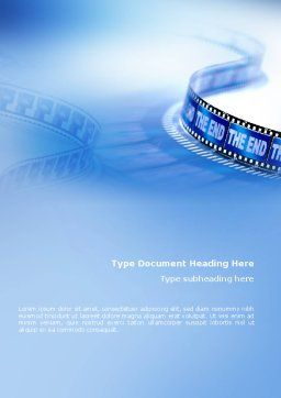 Film Word Template Cover Page